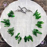 Diopside & White Jade Bracelet